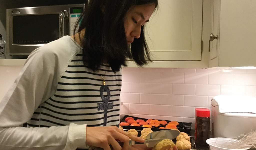 How Sarah unwinds: Baking cream puffs