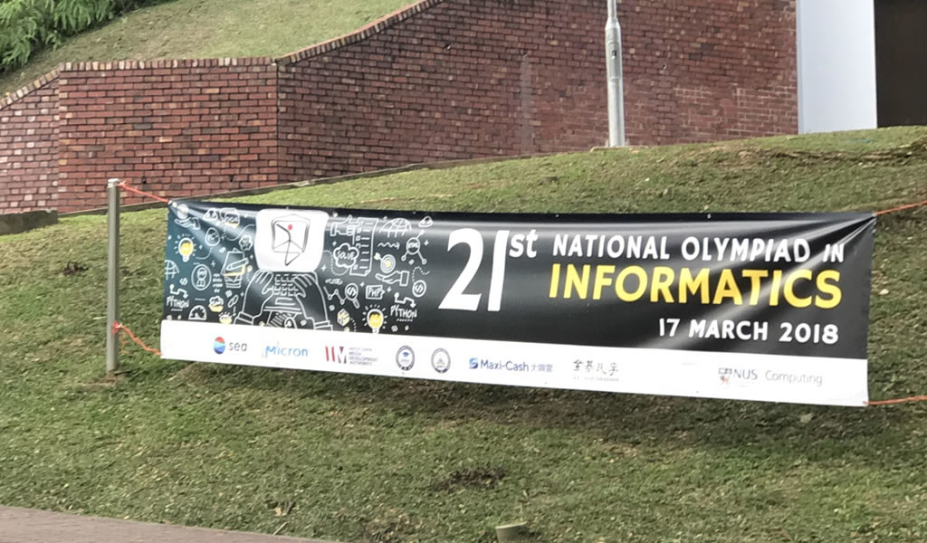 The National Olympiad in Informatics (NOI), held at the NUS School of Computing