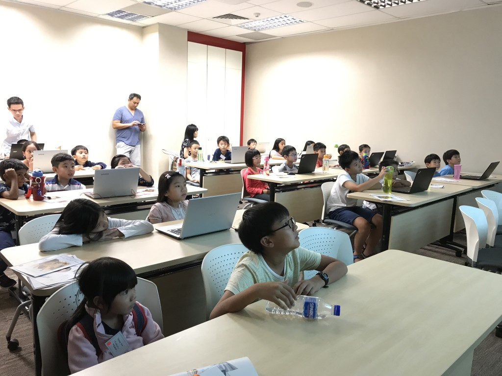 Conducting the 1st coding class of the Sep hols!