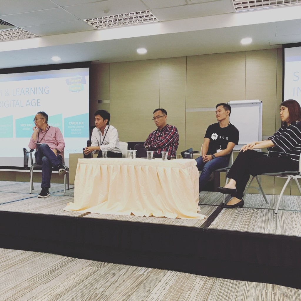 Our Founder, Yong Ning, as an invited panelist for the Parents' Learning Festival 2018