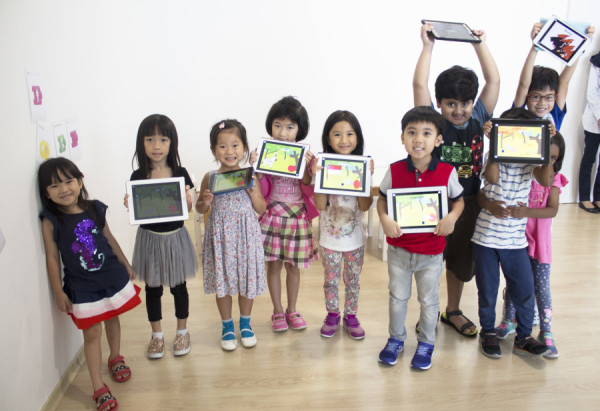 Our Junior Coders with their completed projects