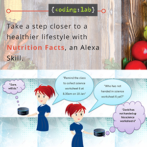 Poster on Nuitrition Facts, An Alexa Skill