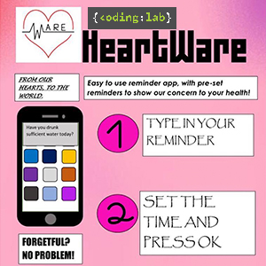 Poster on HeartWare, An Android App