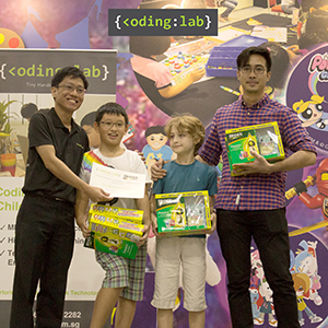 Coding Lab Gifted Coders receiving top prize for Inter School Robotics Challenge