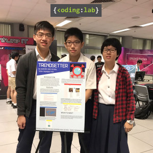 Dunman High students with their poster at iCode 2017