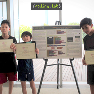Anthony, Adam and Joshua with their winning poster (2nd Place)