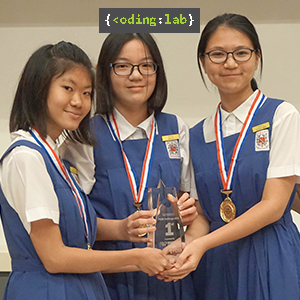 1st Prize + Most Innovative Award, Team ajdisjd (CHIJ St. Nicholas Girls' School)