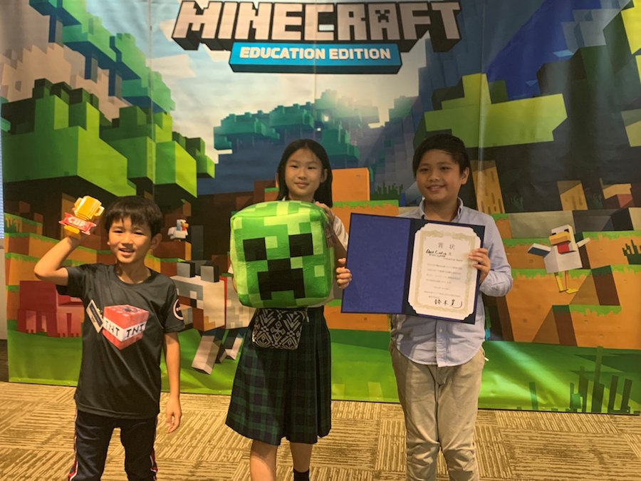 Coding Lab Student representatives attending the Awards ceremony in Microsoft, Japan