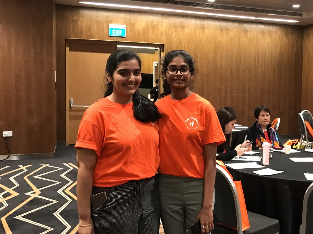 Pooja (on the right) at the ECDA Conference
