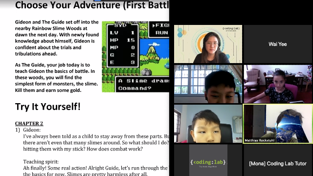 Snapshot of Online HBL class