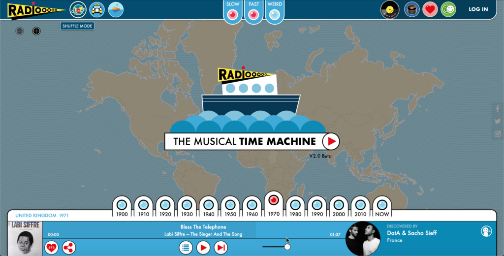 Radiooooo.com, The Musical Time Machine