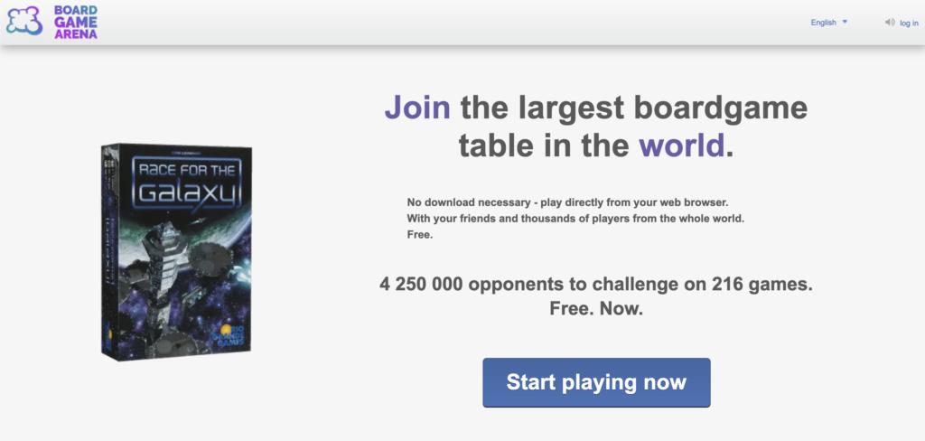 Screenshot of Board Game Arena