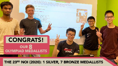 The 23rd NOI (2020): Coding Lab Medallists
