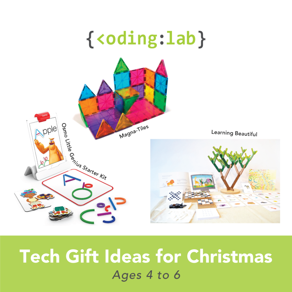 Tech Gift Ideas for Christmas - Ages 4 to 6