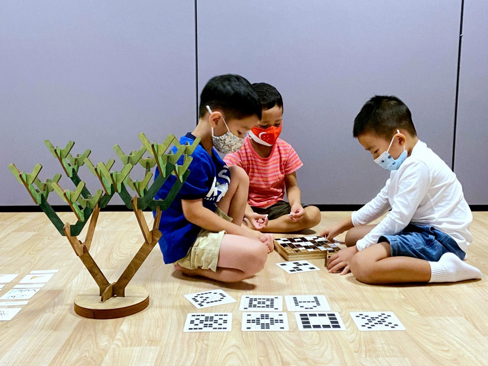 Junior Coders Programme Preschoolers playing with Learning Beautiful Montessori Screen-Free Toys