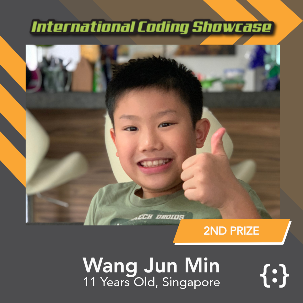 Image of Wang Jun Min ICS Scratch Ages 10-12