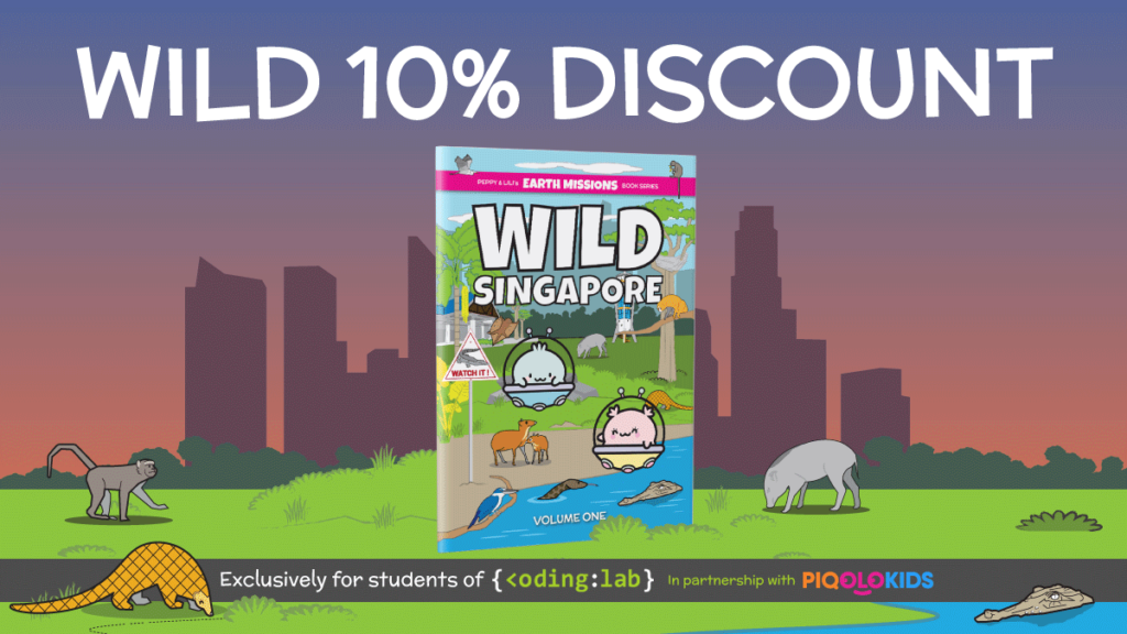 Coding Lab x Piqolo Kids 10% Discount - Wild Singapore Volume 1