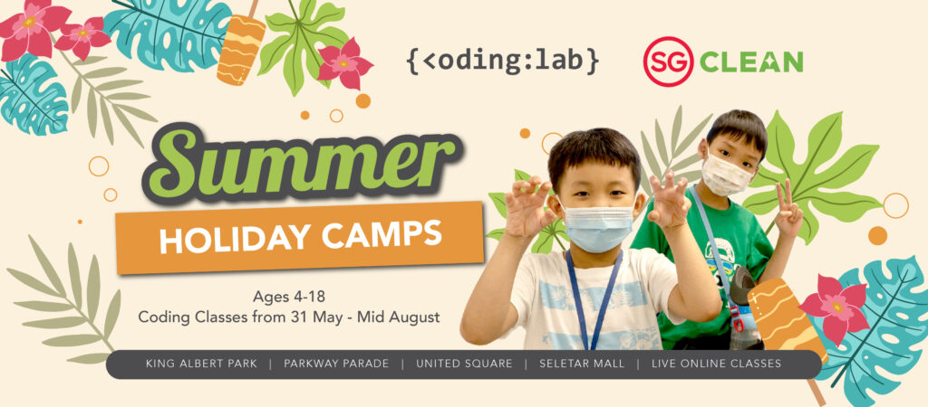 2021 - June Summer Holiday Coding Camps Banner