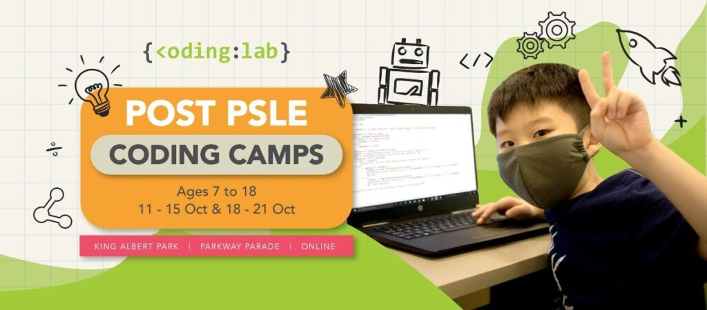 Post PSLE Coding Camps Banner